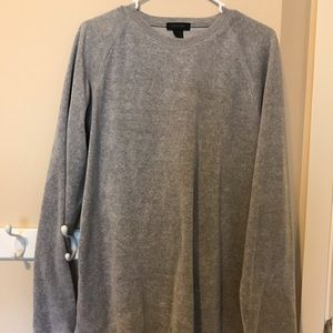 EUC Express gray velour crew neck sweatshirt sz L